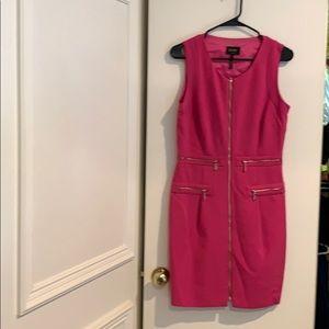 Pretty Pink dress with zipper details.